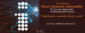 Najava konference Dnevi slovenske informatike 2021